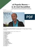 Messaggio Al Nuovo Popolo Joel Ducat Ill On