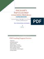 PMP Coaching Program - Course Brochure