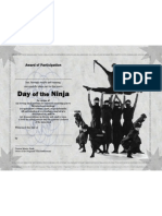 Day of the Ninja participation certificate