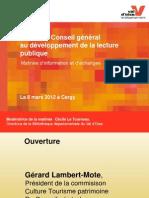 L'aide du Conseil général au développement de la lecture publique