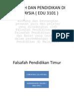 Falsafah Dan Pendidikan Di Malaysia ( Edu 3101