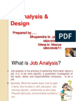 Job Analysis& Design