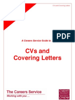 CV and Cover Letters