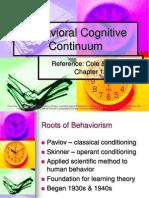 7 Behavioral Cognitive Continuum