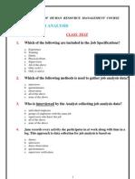 Job Analysis__Multiple Choice Test