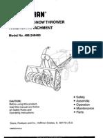 Snow Blower Manual