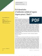 De La Domestication a l Amelioration de l Arganier Argania Spinosa
