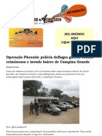 Operação Phoenix polícia deflagra guerra contra criminosos e invade bairro de Campina Grande
