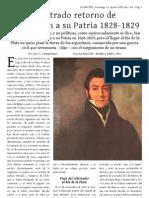 Frustrado retorno de San Martín a su Patria 1828-1829
