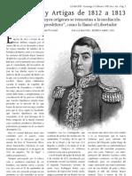 San Martín y Artigas de 1812 a 1813