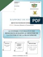 Le SIRH au Ministère de la Culture et de la Francophonie