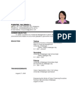 Zenda Resume