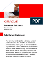 Oracle in Insurance