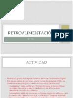 Retroalimentación HTML