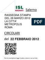 Rassegna stampa del 28 marzo 2012 La città Metropolis Roma