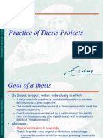 How to Write a Practical Master Thesis