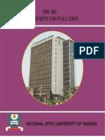 Measurement & Evaluation [2006_nou Nigeria]