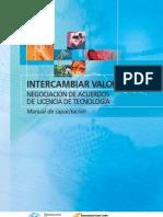 Intercambiar Valor Negociacion de Acuerdos de Licencia de Tecnologia