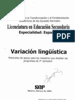 antologia de VariaciónLingüistica