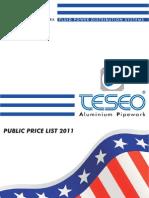 US Price List 2011