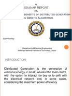 Maximal Optimal Benefits of Distributed Generation Using Genetic Algorithms