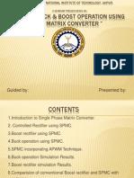 Buck & Boost Operation Using Single Phase Matrix Converter