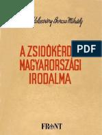 Kolosvary Borcsa Mihaly a Zsidokerdes Magyarorszagi Irodalma