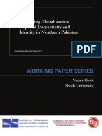 Gendering Globalization- Imperial Domesticity and Identity in Northern Pakistan