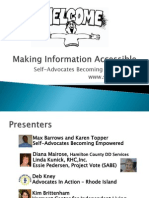Self-Adocates Becoming Empowered with Autism Now Webinar March 27, 2012