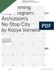 Varnelis Programming After Program