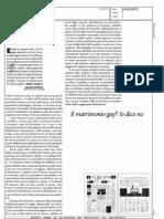 "Il matrimonio gay? Io dico no (""Europa"", 24-03-2012, p. 1)"