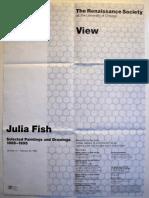 Julia Fish Exhibition PosterPoster