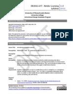 INSDSG 697 - Intro to mLearning - Syllabus