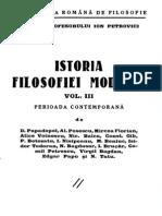 Istoria Filozofiei Moderne Vol.III