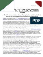 myOffice nomeado para Prémio CIO Awards_PR Avila Business Centers_ 21-3-12_EN