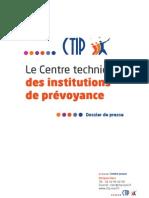 Dossier de presse - Présentation du CTIP et des institutions de prévoyance