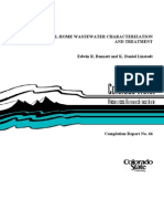 Colorado - Individual Home Waste Water Characterization and Treatment
