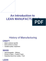 An introduction to Lean Manufacturing