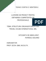 Popescu Eduard - Structura Organizatorica a Unei Agentii de Turism