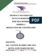 Tiempos y Movimientos Deber 1 PDF