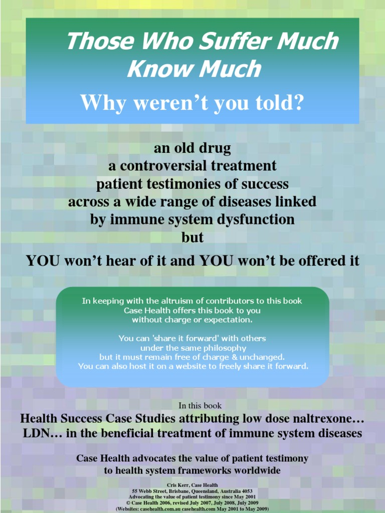 Those Who Suffer Much Know Much | Clinical Trial | Public Health