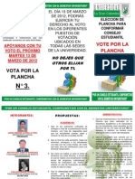 ELECCIÓN DE PLANCHA PARA CONFORMAR CONSEJO ESTUDIANTIL FINAL