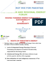 Munawar B. Ahmed Consult, A New Energy Mix for Pakistan