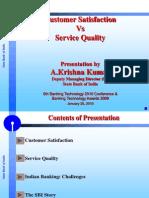 SBI- Mr Krishna Kumar- Customer Sat vs Serv Qty