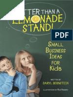 Better Than a Lemonade Stand! by Daryl Bernstein (Excerpt)