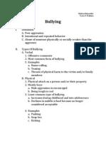 Bullying Outline
