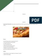 Como Fazer Pizza Hut