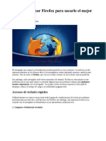 Cómo optimizar Firefox