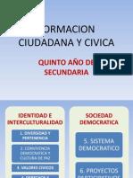 FORMACION CIUDADANA Y CIVICA QUINTO AÑO BIM I
