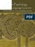 The Psychology of the Language Learner By Zoltan D.
